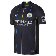 Nike Man City Away Stadium Shirt 18/19 - Navy - Men's Replica Shirts - 919002-476