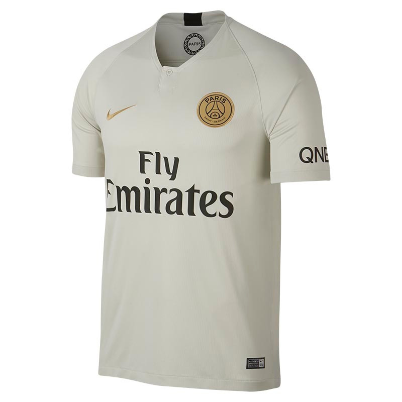 3ef638ee1 Nike PSG Away Stadium Shirt 18/19 - Light Bone/Gold - Kids Replica
