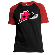 Murrayfield Racers Baseball T-Shirt - Black/Red - Men's Leisurewear