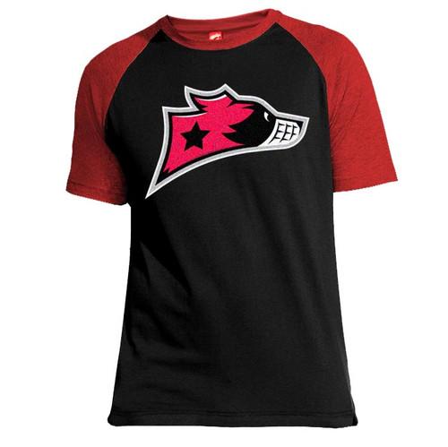 Murrayfield Racers Baseball T-Shirt - Black/Red - Men's Leisurewear