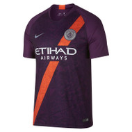 Nike Man City 3rd Shirt 18/19 - Purple/Orange - Men's Replica Shirts - 919001-538