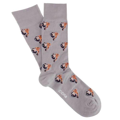 Copa Flying Tackle Socks - Grey - Men's Football Fashion - COPA 5124
