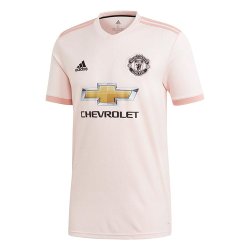 adidas Man Utd Kids Away Shirt 18/19 - Icey Pink - Men's Replica Shirts - CG0055