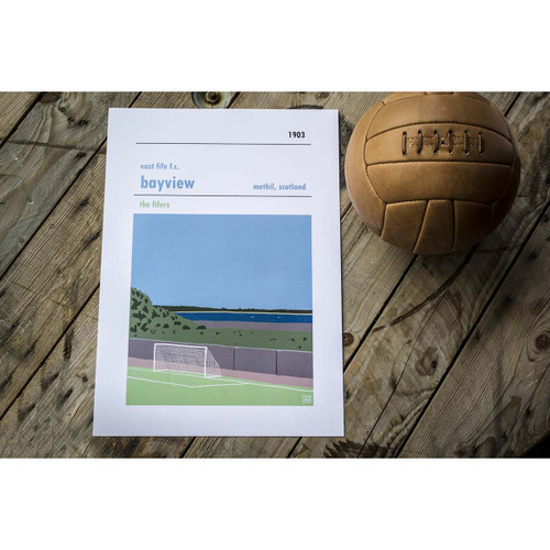 East Fife Bayview Stadium Print (30x40cm)
