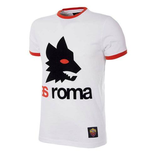 Football Fashion - A.S Roma Retro Logo T-Shirt - COPA 6733
