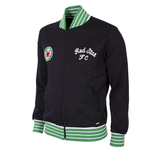 Retro Football Jackets - Red Star F.C. 1963 - Black/Green - COPA 883