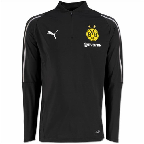 Puma Leisurewear - Borussia Dortmund 1/4-Zip Sweatshirt - Black/Silver