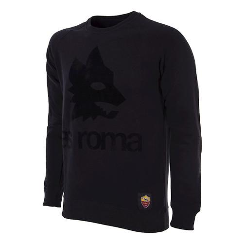 A.S Roma Blackout Retro Logo Sweater