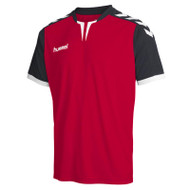 Football Shirts - Hummel Core Short Sleeve Jersey - True Red/Black