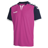 Football Shirts - Hummel Core Short Sleeve Jersey - Rose Violet/Marine