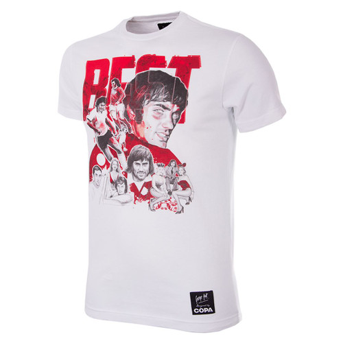 Football Fashion - George Best Collage T-Shirt - COPA 6766