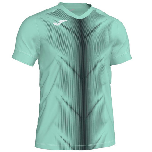 Joma Olimpia II Running T-Shirt - Green/Black - Athletics Clothing