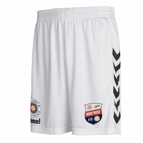 Kids Football Shorts - Montrose Away 19/20 - White - Hummel