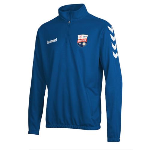 Montrose FC - 1/4-Zip Sweatshirt - Blue - Hummel