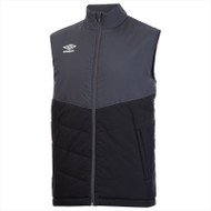 Umbro Teamwear - Sleeveless Poly Gilet - Black/Carbon - 90172U