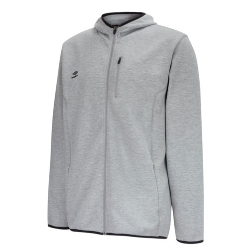 Umbro Teamwear - Kids Pro Fleece Hoodie - Grey Marl - UMPFJ04