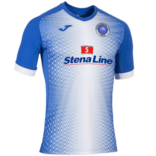 Stranraer FC - Kids Home Shirt 2019/20 - Blue/White - Joma