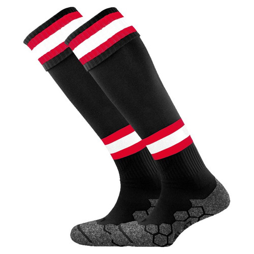 Airdrieonians - Kids Home Socks 2019/20 - Black/Red/White