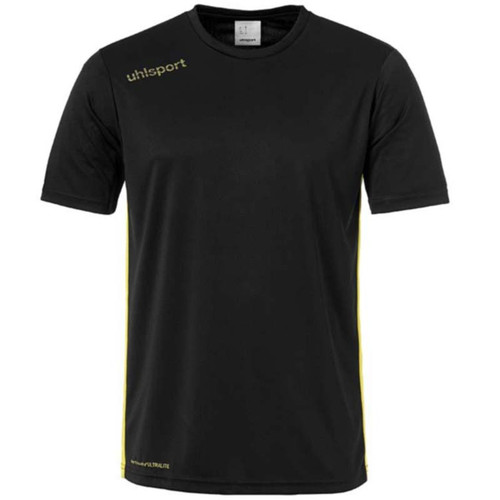 Uhlsport Essential Football Shirt - Black/Lime Yellow - 1003341 - Teamwear