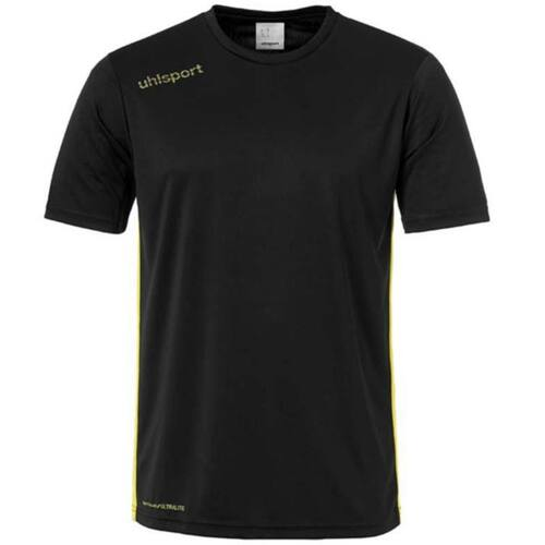 Uhlsport Essential Kids Football Shirt - Black/Lime Yellow - 1003341 - Teamwear