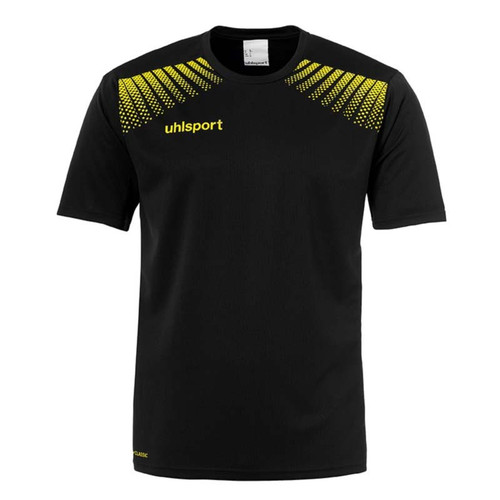 Uhlsport Goal Training T-Shirt - Black/Lime Yellow - 1002141 - Teamwear