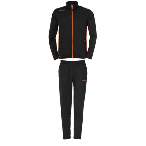 Uhlsport Essential Classic Tracksuit Set - Black/Fluo Orange - 1005167 - Teamwear