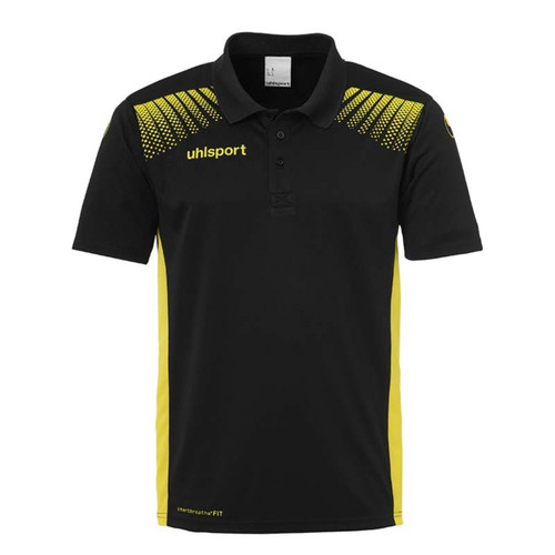 Uhlsport Goal Polo Shirt - Black/Lime Yellow - 1002144 - Teamwear