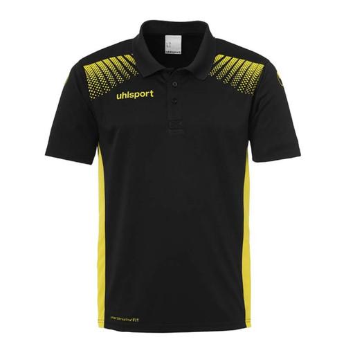 Uhlsport Goal Polo Shirt - Black/Lime Yellow - 1002144 - Teamwear