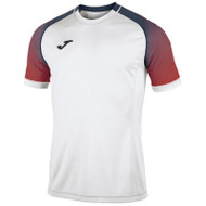 Joma Hispa Football Shirt - White/Red - 100943 - Teamwear