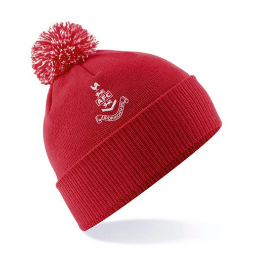 Airdrieonians - Pom Beanie Hat - Red/White - Official Accessories