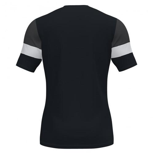 Training T-Shirts - Joma Crew IV Cotton (rear) - Black/White - Teamwear