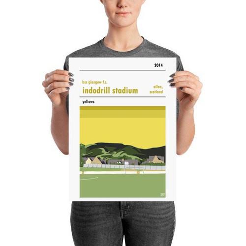 BSC Indodrill Stadium Print (30x42cm)
