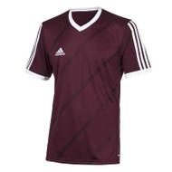 adidas Tabela 14 Burgundy Short Sleeve Kids Football Shirt (Clearance)
