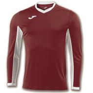 Joma Champion IV Kids Burgundy LS Shirt (Clearance)