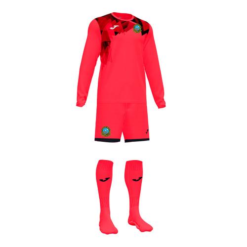 Dunbar Utd Colts Goalkeeper Set - Coral Fluor/Black