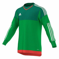 adidas Kids Green Goalkeeper Shirt
