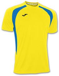 Joma Championship III Kids Shirt - Yellow/Royal (Clearance)