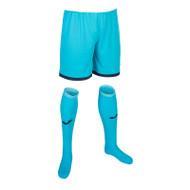 Joma Zamora IV Kids Goalkeeper Set (Shorts & Socks Only) - Fluor Turquoise (Clearance)