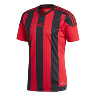 Kids Football Shirts - adidas Striped 15 Jersey - Black/Red