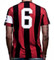 Copa Milan Capitano Football T-Shirt Retro Number 6