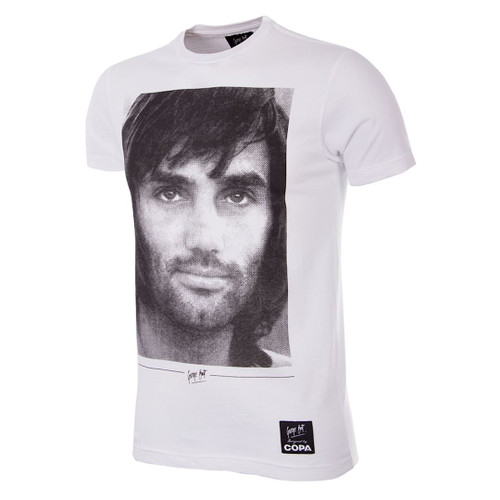 Football Fashion - George Best Portrait T-Shirt - COPA 6756