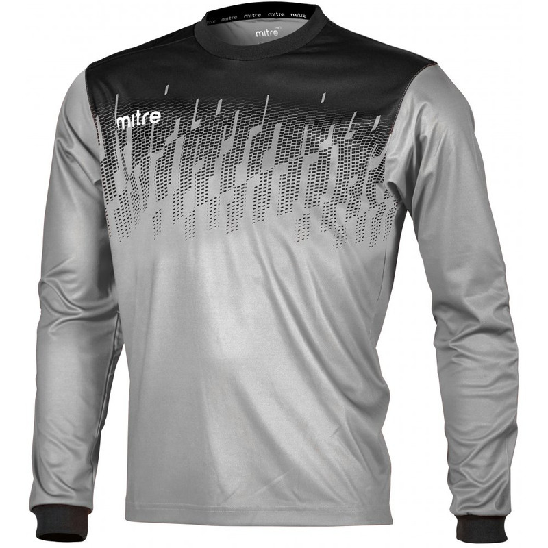 21b157d99 Mitre Command Goalkeeper Shirt Silver Black