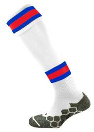 mitre Teamwear Division Tec Football Socks W/R/S