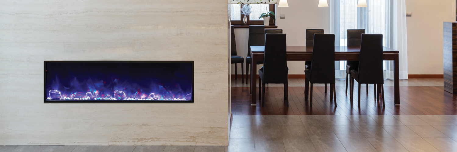 black glass electric fireplace