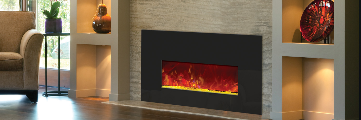 Electric Fireplaces  - Order the modern and sleek 26 inch wide electric fireplace insert online.