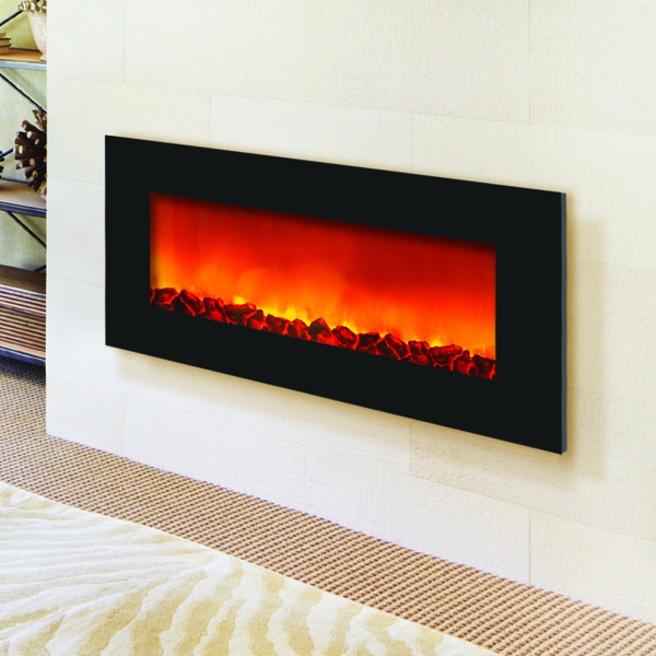 Add some real modern ambience to any room you choose with a slim line electric fireplace.