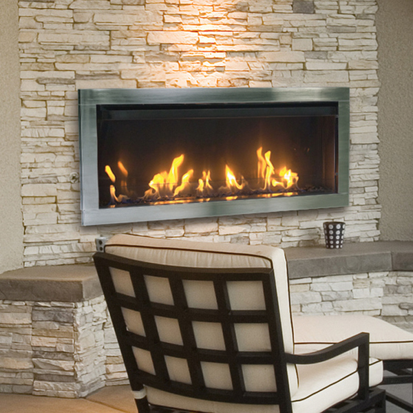 A stone electric fireplace uses a number of stone options around the latest in electric fireplace technologies to mimic a wood-burning fireplace.
