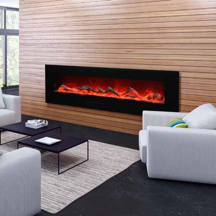 Amantii WM FM 72 8123 BG Wall Mount / Flush Mount Electric Fireplace