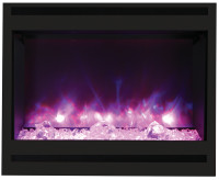 Amantii ZECL-31-3228-STL SQR Zero Clearance Electric Fireplace