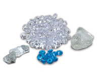 ICE MEDIA: Box 3 Large clear nuggets, 95 Clear & 10 Blue Diamond Media,